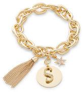 RJ Graziano S Initial Chain-Link Charm Bracelet