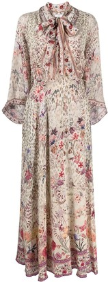 Camilla Neck-Tie Floral Dress
