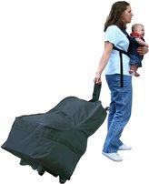 J L Childress Wheelie Car Seat Travel Bag - Black
