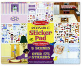 Melissa & Doug NEW Play House Reusable Sticker Pad