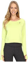 Asics Crop Fleece Long Sleeve Top