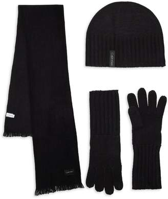 Calvin Klein 3-Piece Beanie, Scarf & Gloves Set