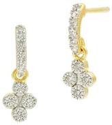 Freida Rothman Petite Clover Earrings