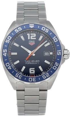 Tag Heuer Blue Stainless Steel Formula 1 WAZ1010. BA0842 Men's Wristwatch 43 MM