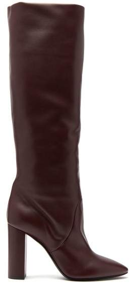 Knee High Lou Boots Womens Leather Burgundy rdBxeoCW