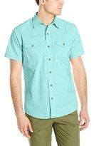 G.H. Bass Men's Short Sleeve Solid Pigment Dyed Shirt