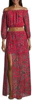 Speechless Long Sleeve Floral Maxi Dress-Juniors