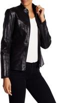 ZAC Zac Posen Veronica Genuine Embossed Leather Jacket