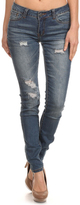 Medium Indigo Rock & Royal Distressed Skinny Jeans