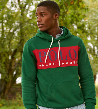 Polo Ralph Lauren x ASOS exclusive collab hoodie in green with red chest panel