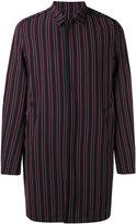 Wooyoungmi striped coat - men - Elastodiene/Polyester/Wool - 44