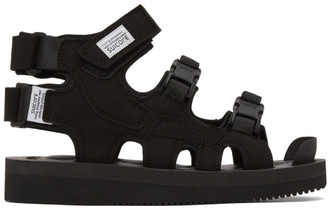 Suicoke Black Boak-V High Top Sandals