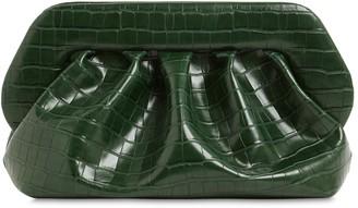 Themoirè Bios Croc Embossed Faux Leather Clutch