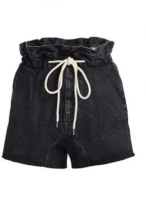 Bassike Paperbag Waist Denim Shorts