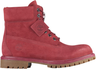 """Timberland 6"""" Premium Waterproof Boots Outdoor Boots - Pomegranate"""