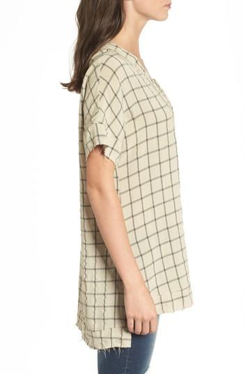 LIRA Women's Grayson Windowpane Lace-Up Tunic