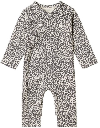 Noppies Unisex Long Sleeve Playsuit - Oatmeal Newborn