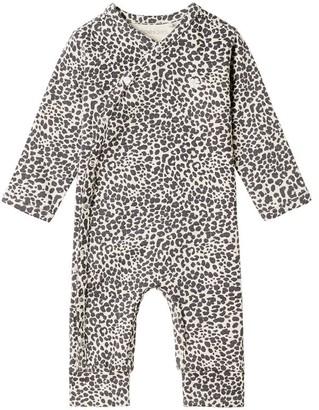 Noppies Unisex Long Sleeve Playsuit Oatmeal Newborn