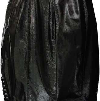 Thierry Mugler Black Patent leather Skirt for Women Vintage