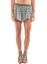 West Coast Wardrobe Ocean Paradise Printed Shorts in Ivory/Jade