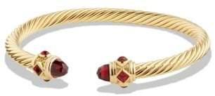 David Yurman Renaissance Bracelet With Garnet In 18K Gold, 5Mm