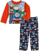 Thomas & Friends Thomas the Train Toddler Boys' Long Sleeve Top with Fleece Pants Pajama 2-Pie...