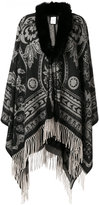 Etro fur trim cashmere cape