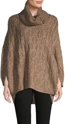 Design History Cable-Knit Poncho