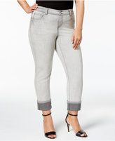 INC International Concepts Plus Size Cuffed Skinny Jeans, Only at Macy's