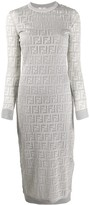Fendi FF Pattern midi dress