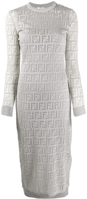 Fendi FF motif midi dress