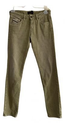 Diesel Black Gold Green Cotton Jeans for Women
