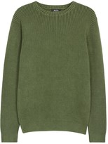A.p.c. Anton Green Ribbed Cotton Jumper