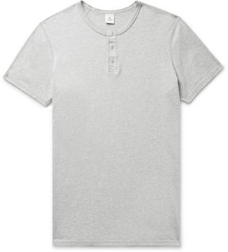 Reigning Champ Melange Pima Cotton-Jersey Henley T-Shirt
