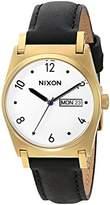 Nixon Women's A955513-00 Jane Leather Analog Display Japanese Quartz Black Watch