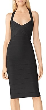 Herve Leger Icon Open Back Bandage Dress