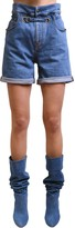 Philosophy di Lorenzo Serafini Belted Cotton Denim Shorts