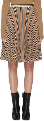 Burberry Archive stripe pleated midi skirt