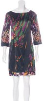 Elie Tahari Silk Abstract Print Dress