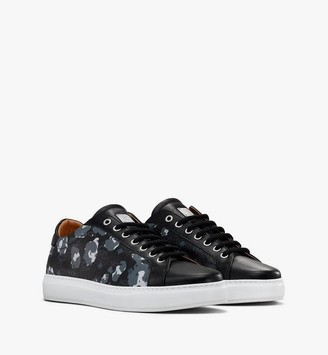 MCM Men's Low-Top Sneakers in Floral Leopard