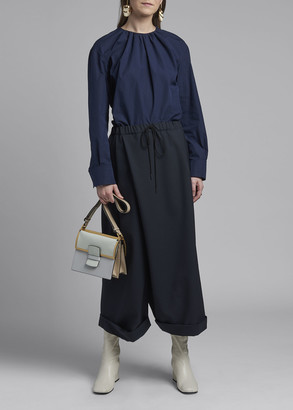 Marni Wide-Leg Tropical Wool Trousers