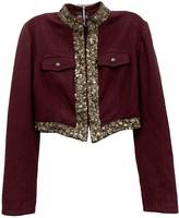 Jean Paul Gaultier Purple Wool Jacket for Women Vintage