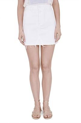Paige Aideen Skirt w/ Double Button (Crisp White) Women's Skirt