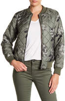Joe Fresh Floral Print Quilted Bomber Jacket