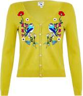 Yumi Floral Bird Embroidered Cardigan