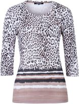 Olsen 3/4 sleeves animal print T-shirt