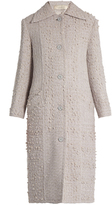 Nina Ricci Point-collar wool-blend tweed coat