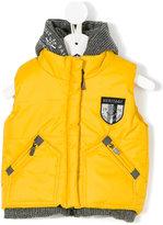 Lapin House padded sleeveless hooded jacket