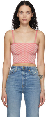 Calle Del Mar Pink Checkered Tank Top
