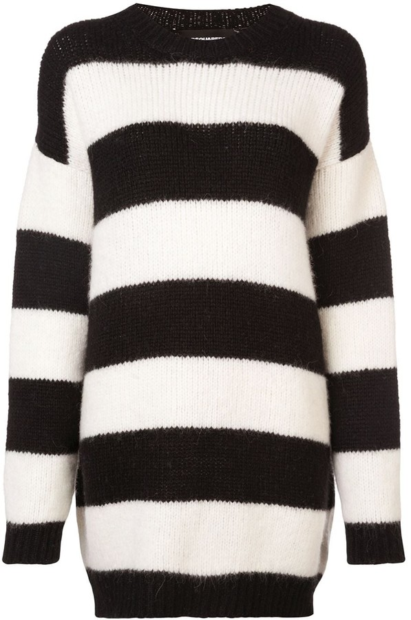 DSQUARED2 oversized knitted striped sweater